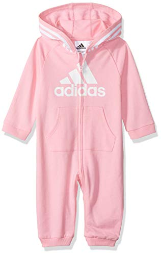 adidas Girls and Baby Boys' Coverall, Light Pink, 9 Months