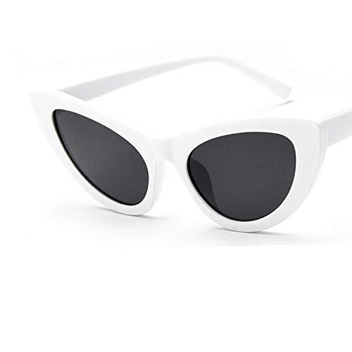 ShSnnwrl Gafas De Moda Gafas De Sol Moda Mujer Gafas De Sol Vintage Lady Retro Conducción Ojo De Gato Gafas De Sol Uv400 C3Whiteblack