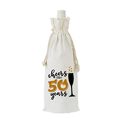 YouFangworkshop Weinflaschen-Tüten zum 50. Geburtstag, Partydekoration, Geschenk für Frauen, Ehefrau, Ehemann, Onkel, Tante
