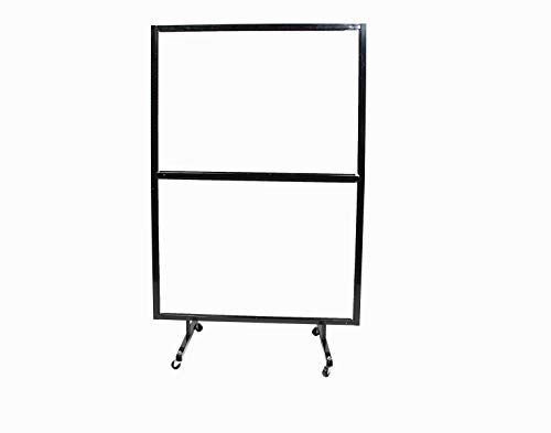 """CSL Portable Partition Dividers on Wheels, 72"""" Floor Standing Plexiglass Sneeze Guard Protective Shield Divider (4Ft x 6Ft)"""