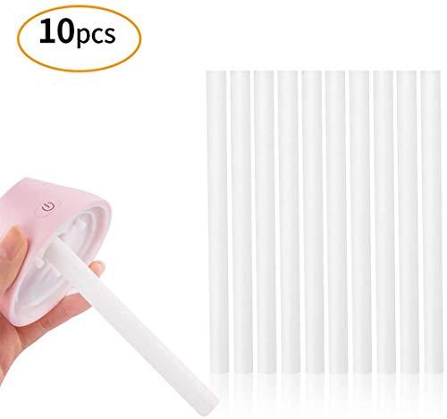 Huir Varilla de humidificación varilla de filtro de algodón varilla de carga elemento de filtro de reemplazo varilla de esponja higroscópica para humidificador portátil 0.3 * 4. 72 pulgadas,10 piezas
