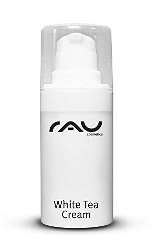 RAU Cosmetics Anti Aging Gesichtscreme - White Tea Cream 50 ml - Antifaltencreme mit Weißem Tee, Aloe Vera, Shea Butter & Panthenol - Tagescreme gegen Falten - Trockene, Reife, Normale & Sensible Haut