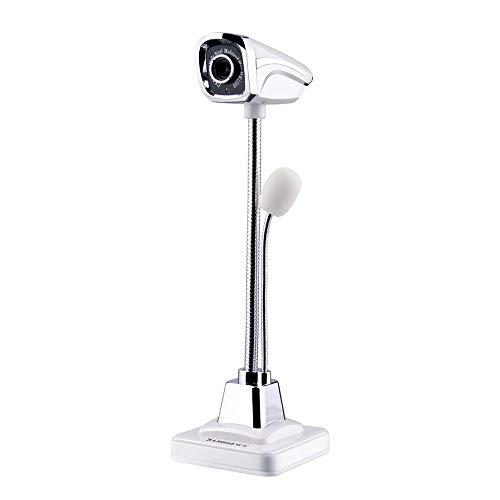 LONGH Nuovo Web Camera con Microfono USB ad Alta Definizione HD Webcam Web Cam for Skype for Youtube Computer Notebook PC Portatile Camera (Color : White)