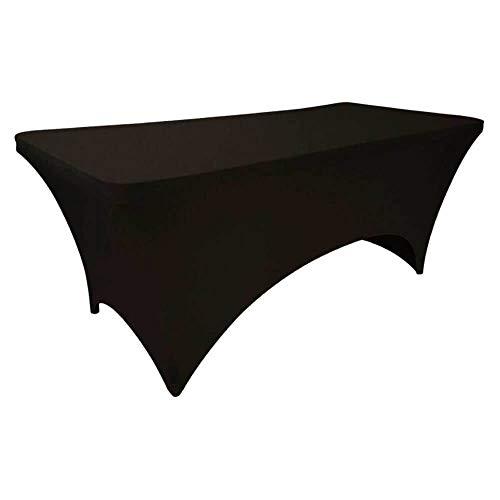 Spandex Housse de Table de Jardin - Noire