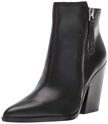 Naturalizer Women's Bootie Ankle Boot, Black Leather, 9