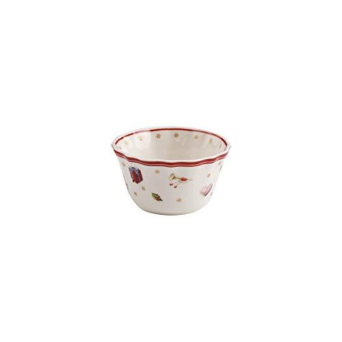 Villeroy & Boch Toy's Delight Coupelle pour sauce, Porcelaine Premium, Blanc/Rouge