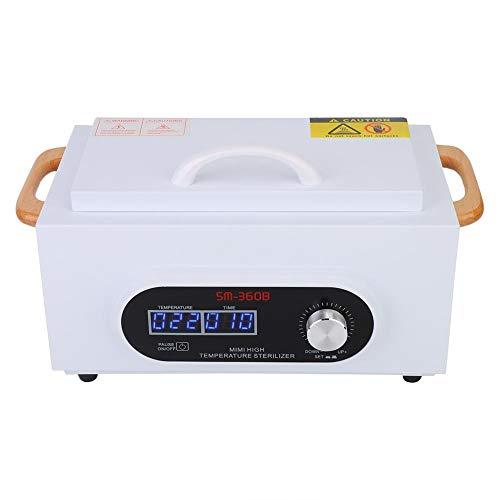 Esterilizador de alta temperatura Herramientas de manicura Caja de desinfección UV Almacenamiento Maleta Organizador Armario Tijeras Toalla Uñas Herramientas Esterilizador Equipo para belleza(