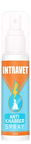 Saint Nutrition Intravet Anti Knabber Spray - Fernhaltespray für Katzen und Hunde – Katzenabwehr & Hundeabwehr für Indoor und Outdoor – natürliche Inhaltsstoffe, Nicht schädlich für Tiere