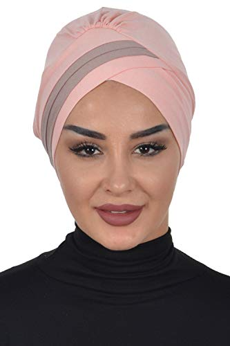 Instant Turban Cotton Scarf Head Wrap 2Colored Headbands For Women...