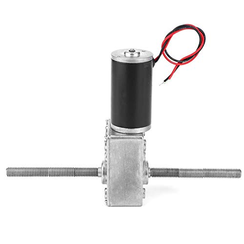 Hilos giratorios Motor DC 24V - Doble eje M8 Rosca derecha para soportes de exhibición para autos de juguete para máquinas expendedoras(Reduction ratio 500)