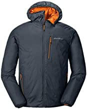 Eddie Bauer Men's EverTherm Down Hooded Jacket, Storm Regular L