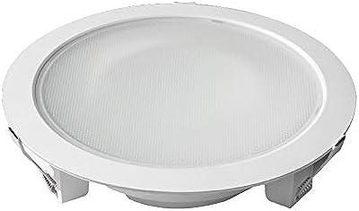 Vision-EL 776500 Downlight LED Rond 3000°K, Aluminium/PVC, 28 W, Blanc, (H x Ø)-60 x 231 mm