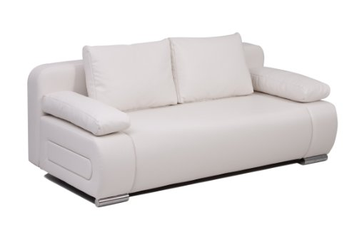 Collection AB Schlafsofa Ulm-FK PU, weiss 98 x 200 x 85 cm