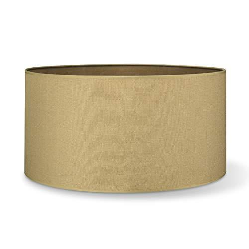Pantalla redonda | Canvas | Pantalla de lámpara | Pantalla de forma recta | diámetro de 50 cm altura de 25 cm |