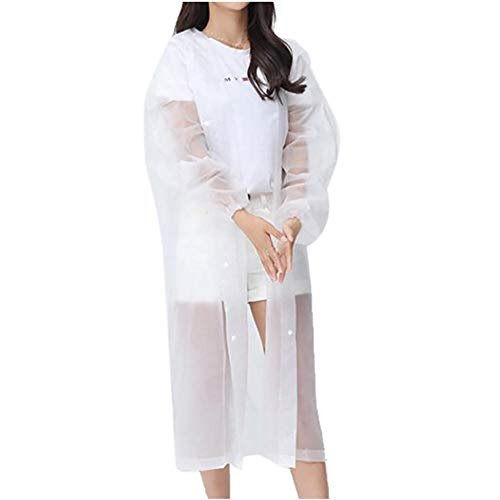 ZWYM Protective Safety Coverall Work Clothes Antistatic Clothes Anti-Dust Plash Outdoor Travel Raincoat Protective-White_ChinaVestes Coupe Pluie randonnée