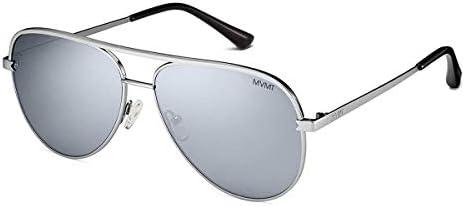 MVMT Maverick Non Polarized Round Women s Men s Aviator Sunglasses Mirror Silver Silver product image