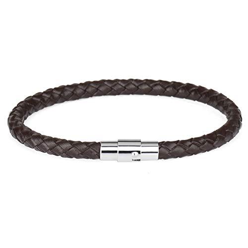 Pulsera Brazalete, Joyeria Regalo, Bracelets Genuine Leather Bracelet Copper Magnet Bracelet For Men Women Bangles KR1001-2 21CM