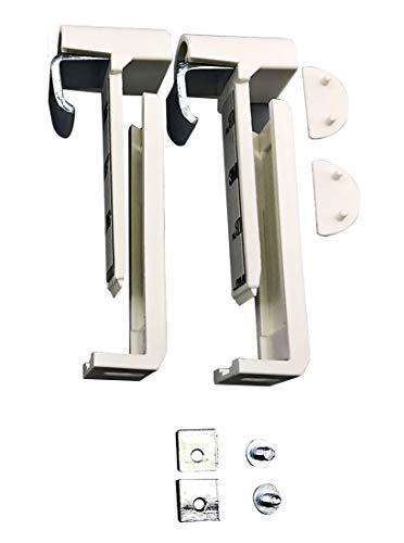 Falzfix - Jalousien-Klemmträger (2 Stück) für die Montage in der Glasleiste Ihres PVC-/Kunststofffensters ohne Bohren