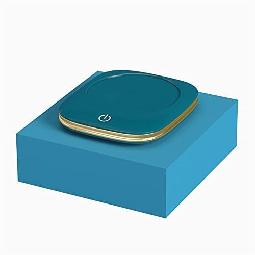 SVNA Calentador de Tazas 3 Ajuste de Archivo PTC Velocidad de Calentamiento Ahorro de energía Ahorro de energía Protección Leche Taza de Agua Calefacción Base de Aislamiento (Color : Blue)