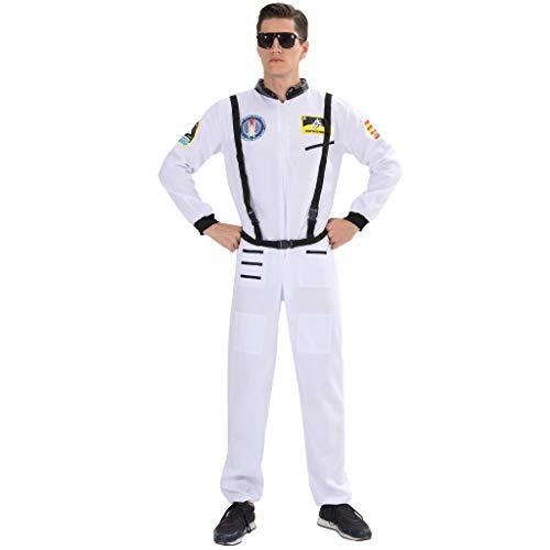 EraSpooky Disfraz de Astronauta para Hombre Traje de Astronauta Piloto Cosplay - Fiesta de Halloween Traje Divertido para Hombres Adultos,XL