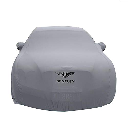 HFFTLH Compatible with car Cover Bentley Sunscreen/Mulsanne, Continental, Continental Flying Spur, Speed, GT, GT Speed, GTC high Elastic Cloth Material Close to The Body car Cover,Gray,GTC