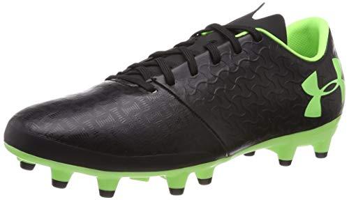 Under Armour Męskie buty piłkarskie Magnetico Select Fg, Czarne czarne światło limonkowe - 41 EU