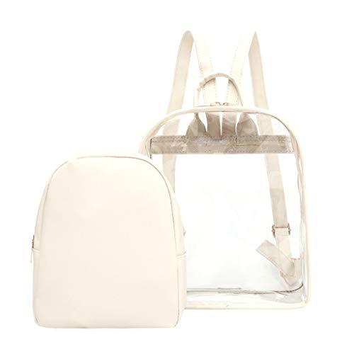 KaloryWee Frauen durchsichtigen Kunststoff durchsichtig Sicherheit transparent Rucksack Tasche Reisetasche Wasserdicht Original Einzigartiger