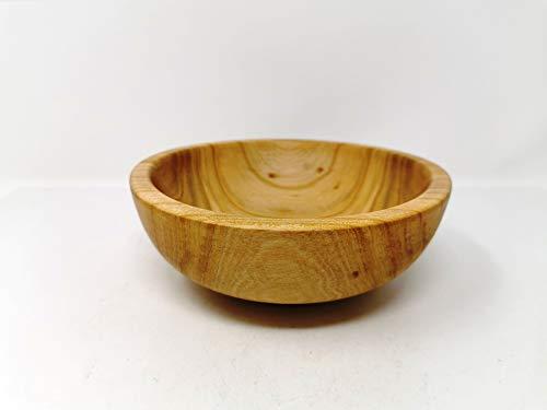 Holzschale rund aus Kirschen Holz - ∅ ca. 17,5 cm - H: ca. 6,5 cm handgemacht gedrechselt Schale Obstschale
