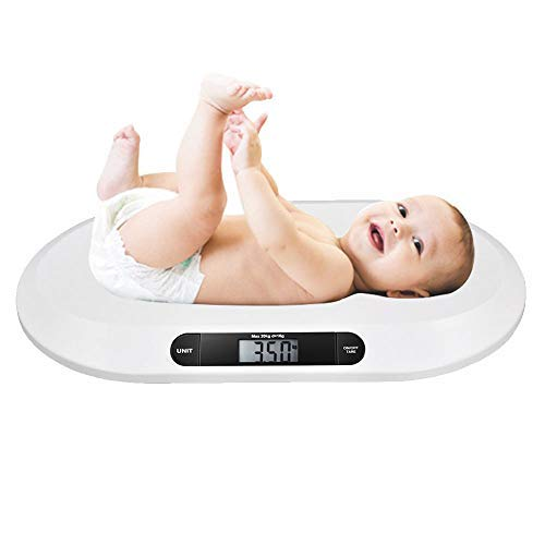 MorMon Electronic Digital Weigh Baby Scales Balance de pesée pour salle de bain pour animaux de compagnie pour nourrissons 20 kg / 44 lbs