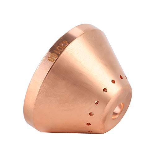 Plasma Shield Cap, Tellurium Kupfer Plasma Shield Cup Cap für MAX125 Schneidbrenner Verbrauchsmaterial 420168