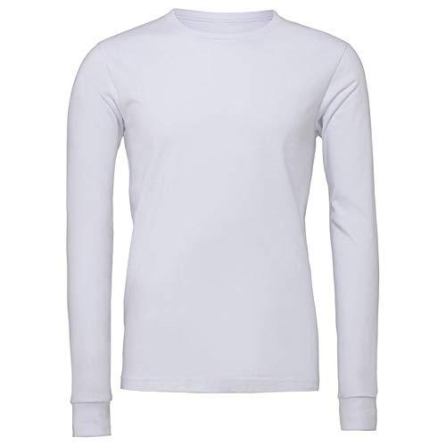 Bella + Canvas - Camiseta unisex para hombre y mujer, Blanco, XL