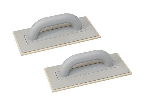 2er Set DEWEPRO® Filzbrett - Kunststoff (PS) Reibebrett mit 6,5mm Filzbelag für Putz u. Feinputz - 280x140mm