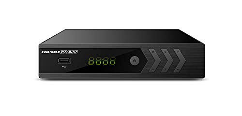 DiProgress DPT220HD Decoder Digitale Terrestre DVB-T2 Doppio Tuner, Nero