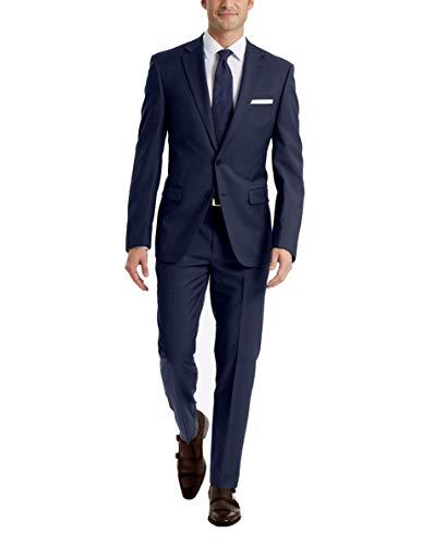 Calvin Klein Medium Blue Slim Fit Suit