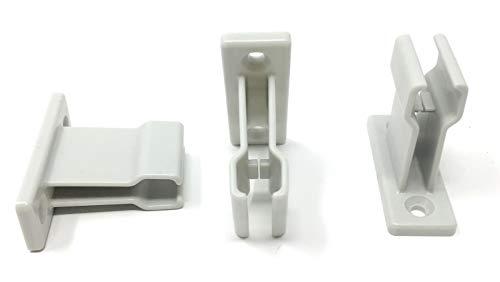 3 Stück Kurbelhalter weiß für Gelenkkurbel bzw. Kurbelstange