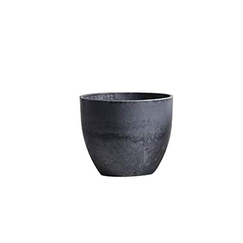 LQKYWNA PP Resin Flowerpot with Imitation Stone Pattern Modern Style Flower Pots Outdoor Indoor Succulent Cactus Planter Pots