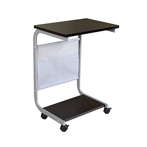 Lifting Laptop Computer Schreibtisch Beweglicher C-Förmiger Overbed Tv Tray Magazine Snack Tisch Auf Rädern, Holz Desktop Mit Metallrahmenfarbe