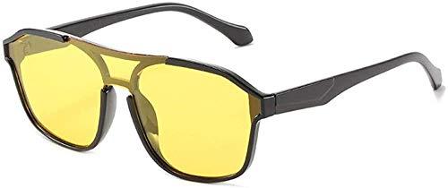 Gafas de sol hembra doble haz de conexión lente moda INS viento sombrilla
