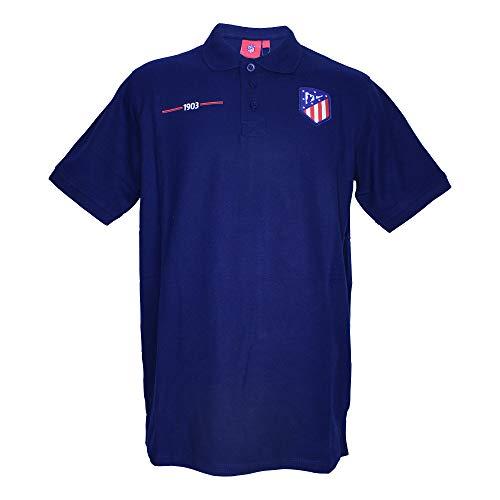 Atlético de Madrid Polo Azul Marino - 1903 con Escudo Original (XXL)