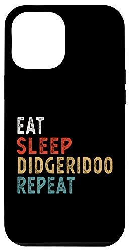 iPhone 12 Pro Max Vintage Eat Sleep Didgeridoo Repeat Funny Didgeridoo player Case