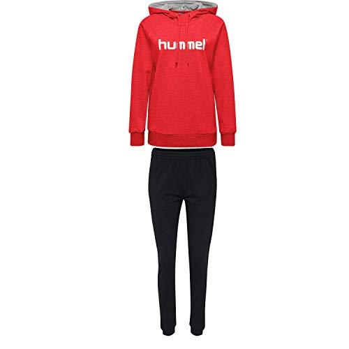 Hummel Damen Sweatanzug Go Cotton Logo 203517+204173 True Red XS
