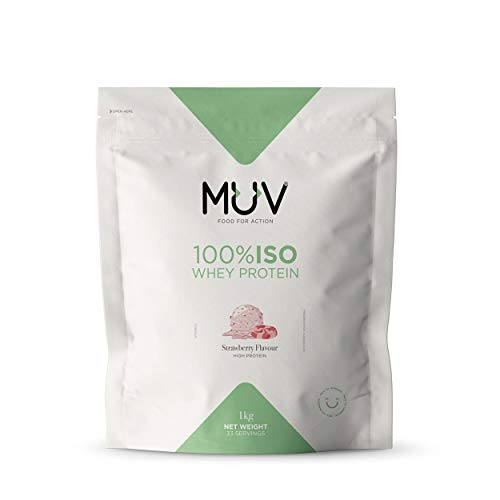 Muv Food For Action Iso Whey Protein Strawberry Flavour - 1000 gr