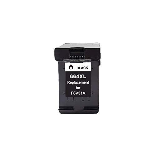 Cartuchos de tinta compatibles 664XL para HP 664XL 664 para HP Deskjet 1115 1118 2135 2136 3635 3636 3638 3700 2675 5075 5275 5278 (Color: 1BK)