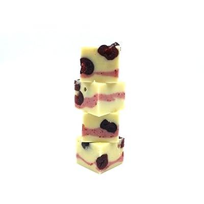 luxury gourmet cherry bakewell fudge by 'oooh!..fudge' 100g bar of creamy buttery decadent fudge Luxury Gourmet Cherry Bakewell Fudge by 'Oooh!..FUDGE' 100g bar of Creamy Buttery Decadent Fudge 31k0vornBDL