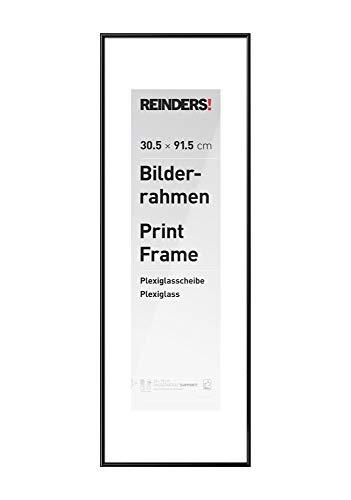Wissellijst voor poster 30,5x91,5 cm | zwart | kunststof - Fotolijst 32 x 93 cm Woonkamer