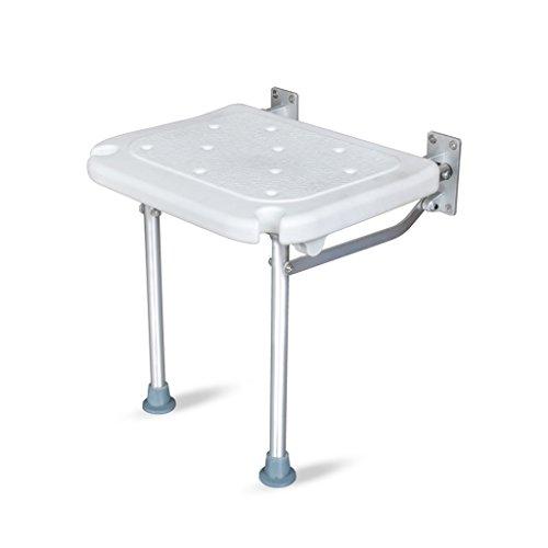 NYDZDM Badezimmer Duschstuhl Klappbarer Wandhocker Behindertenstuhl Ankleidehocker Badezimmerbein Duschhocker Weiß