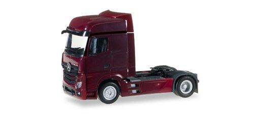 herpa 159500–007Mercedes-Benz Actros Big Platz starr Traktor Modell Set, Wein Rot
