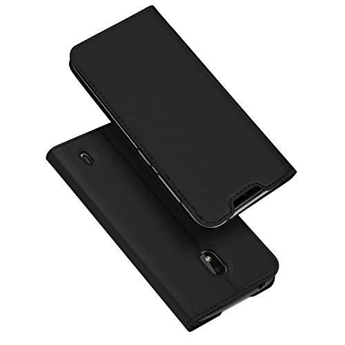 DUX DUCIS Hülle für Nokia 2.2, Leder Flip Handyhülle Schutzhülle Tasche Case mit [Kartenfach] [Standfunktion] [Magnetverschluss] für Nokia 2.2 (Schwarz)