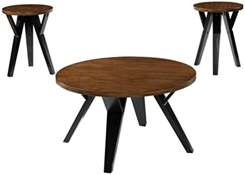 Best Signature Design by Ashley - Ingel Contemporary Table Set - Includes Coffee Table & 2 End Tables, Tw