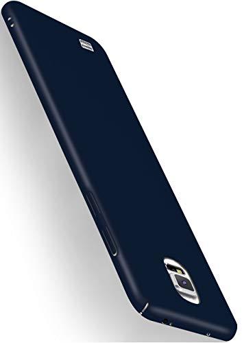 moex Alpha Hülle kompatibel mit Samsung Galaxy Note 4 - Hülle Ultra dünn, Handyhülle aus Hartplastik, Schutzhülle matt Hardcase, Navy Blau